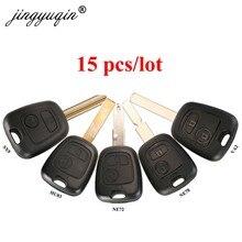 Hoja de llave de coche mando a distancia jingyuqin 15 Uds reemplazo de carcasa para Citroen para Peugeot