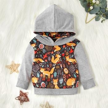 Bluzy z kapturem dla dzieci dziewczyny bluza z kapturem dla dzieci chłopcy z kapturem dla dzieci odzież dla niemowląt odzież dla niemowląt maluch dziecko odzież sportowa tanie i dobre opinie Nowość COTTON Poliester Pasuje prawda na wymiar weź swój normalny rozmiar Zwierząt REGULAR Unisex Pełna