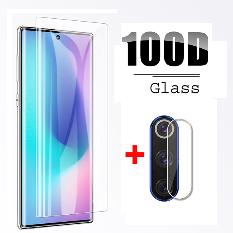 2 In 1 Camera Glass For Samsung Galaxy Note 10 Plus Tempered Glas On Sansung Note10 Note10Plus 10Plus Lens Film Screen Protector