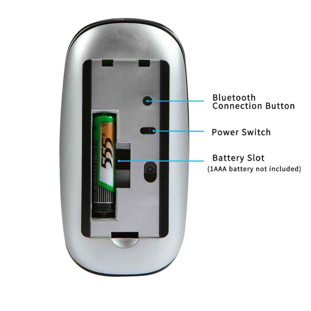タッチの Bluetooth ワイヤレスマウス、超薄型ポータブルミニマウス、 apple との互換性コンピュータ、アンドロイドの Windows タブレットコンピュータ