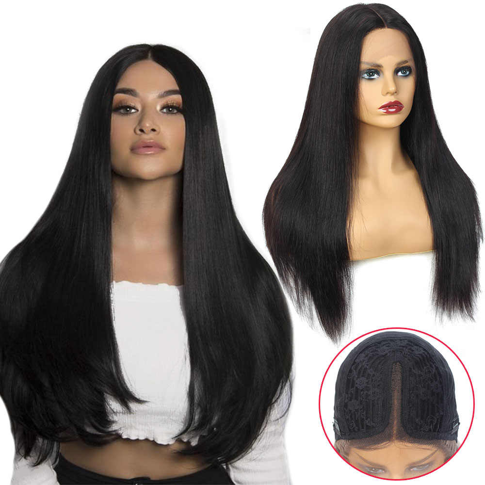 T Shape Lace Front Human Hair Wigs for Women perruque cheveux humain Remy Brazilian Straight Lace Front Wig Long 12-26inches