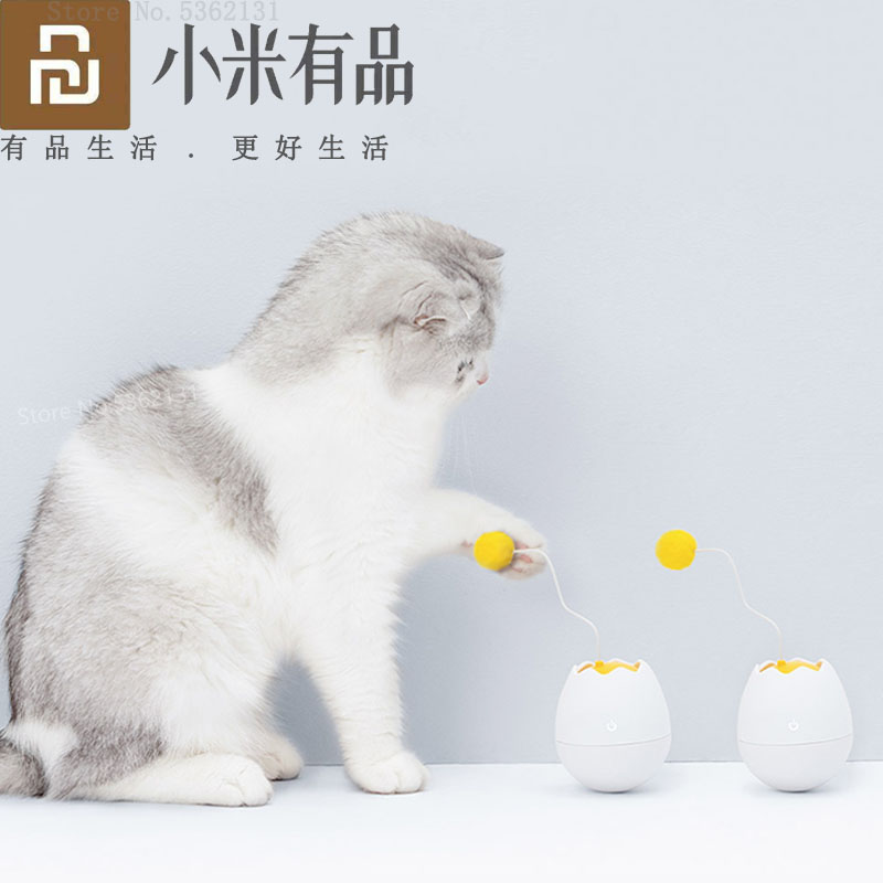 Youpin Furrytail Electronic Motion Cat Toy Smart Interactive Toys Pet Funny Companion Flutter Rotating Interactive Puzzle Toys