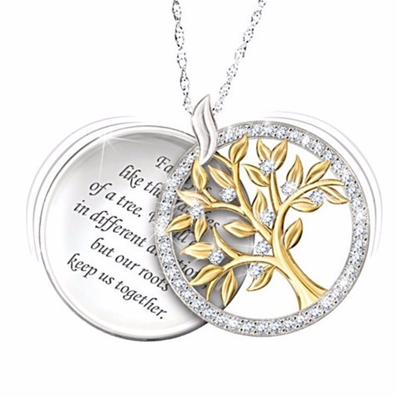 925 Silver Color Necklace White Topaz Diamond Pendant For Women Of Life Diamond 925 Necklace Pierscionki Jewelry Pendant