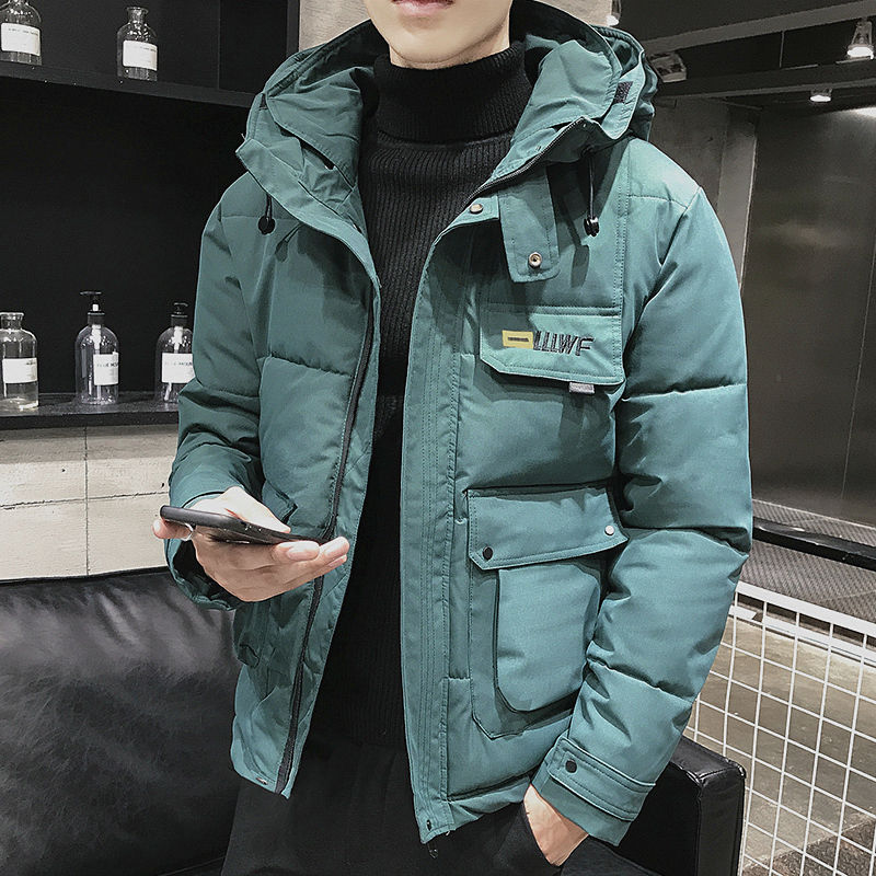 Cheap Wholesale 2019 Fall/winter Trendy Men's Fashion Casual Frock Cotton-padded Clothes Handsome Hooded Cotton-padded Jacket