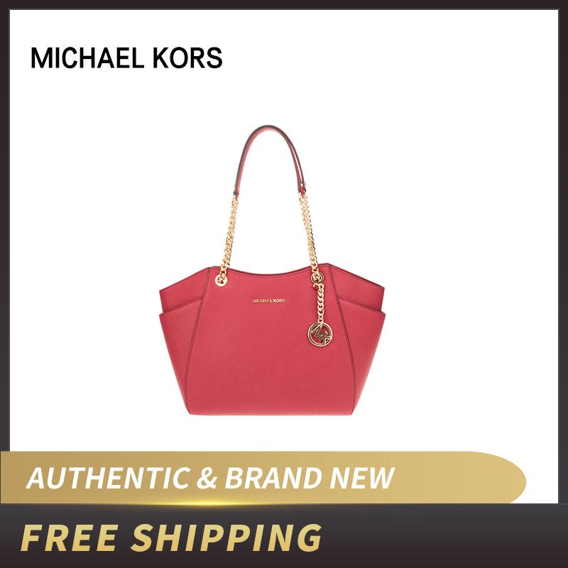 Authentic Original & Brand new Michael Kors Women's Bag Jet Set Travel Large Chain Shoulder Leather Tote Womens' pouch35T5GTVT3L