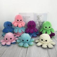 Sevimli duygu Flip ahtapot oyuncak dolması peluş kızgın Flip mutlu oyuncaklar yumuşak çift taraflı renkli hayvan bebek popüler çocuk hediyeler