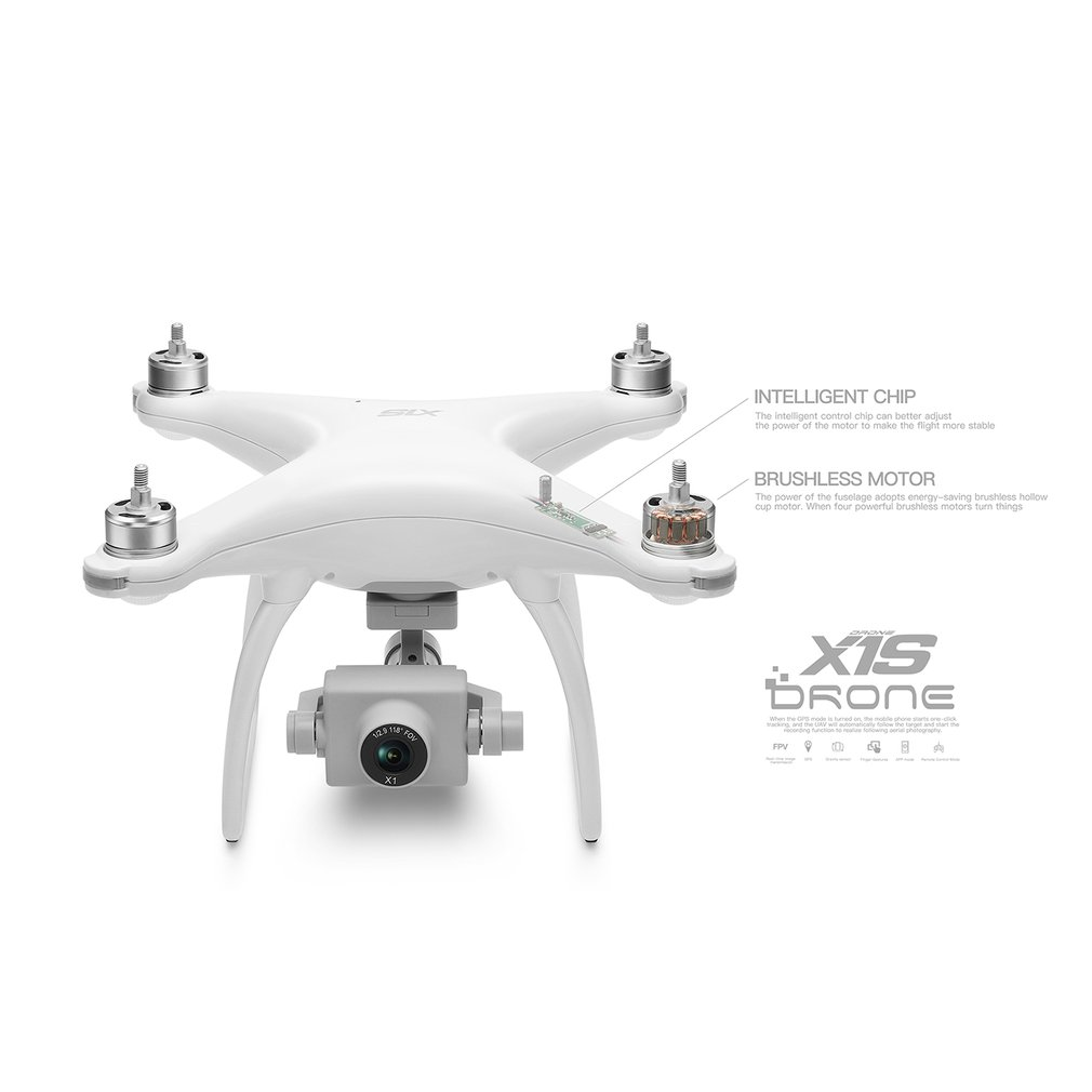 X1S GPS 5MP HD Camera FPV Foldable RC Drone Helicopter Aircraft Headless Mode Optical Flow Remote Control Toys