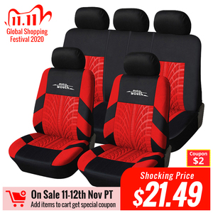 Image 1 - AUTOYOUTH Fashion Tire Track Detail Style Universal Car Seat Covers Fits Most Brand Vehicle Seat Cover Car Seat Protector 4color