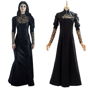 Witcher Yennefer Cosplay Costume Adult Girl Female Long Dress Outfit Halloween Carnival Outfits(China)