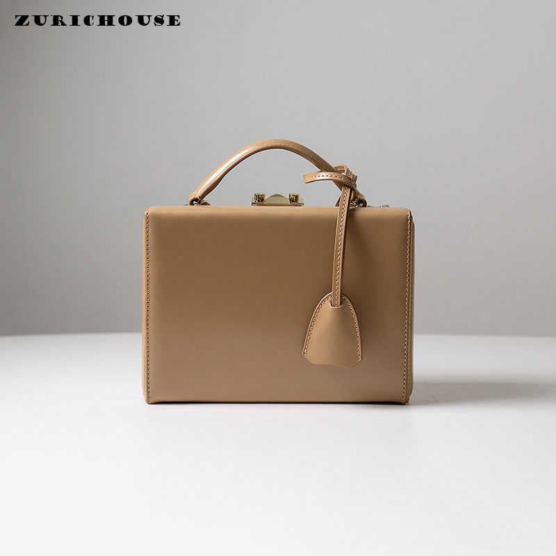 ZURICHOUSE Brand Genuine Leather Handbags Women 2019 Mini Square Box Bag High Quality Ladies Boxes Shoulder Crossbody Bags