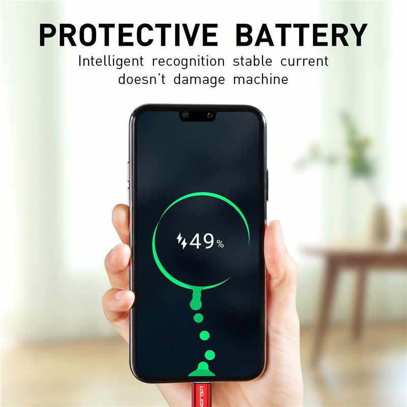 USLION 3A Usb タイプ C ケーブル高速充電サムスン銀河 S8 S9 プラス Xiaomi mi9 Huawei 社の携帯電話 USB C 充電ケーブル