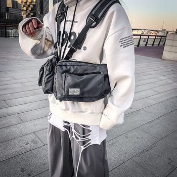 New Streetwear Tactical  Vest Men bag  Hip  Hop  Street  Style  Chest  Rig  Phone  Bags  Fashion  Cargo Personalized Chest Bags