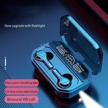Беспроводной Bluetooth 5,1 наушники-вкладыши TWS Bluetooth гарнитура Водонепроницаемый наушники С Микрофоном Hi-Fi стерео Бас сенсорный Управление HD све...