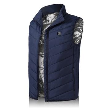 Heating Vest Winter Warm Jacket Heated Vest USB Charging Heating Vest Intelligent Electric Heating Vest Heating Clothes 8