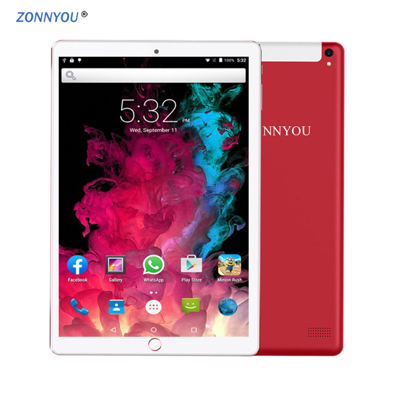 New System 10.1 Inch Tablet PC 3G Phone Call Android 8.0 Wi-Fi Bluetooth 4GB/64GB Octa Core Dual SIM Support Tablet +Keyboard