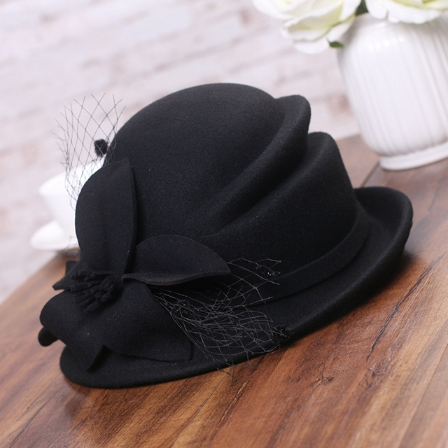 Gatsby Flower Wool Hat