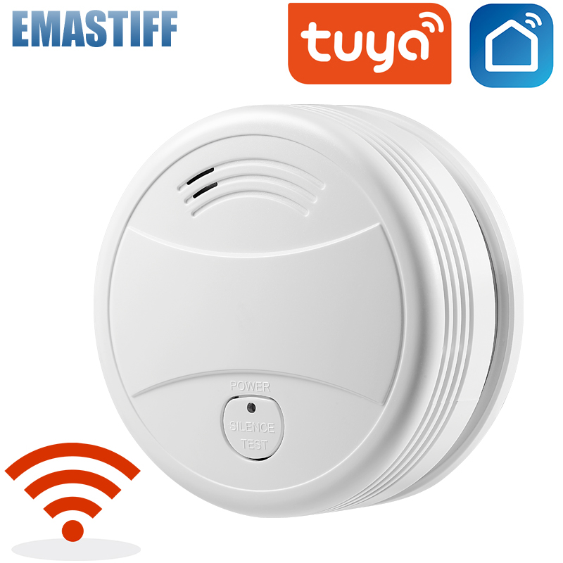 Independent/Tuya WiFi Smoke Detector Smoke house Combination Fire sensor Home Security System Smoke Alarm Fire Protection