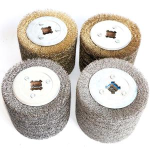 Image 1 - 1 piece Stainless Steel Wire Brush Wheel Wood Open Paint Polishing Deburring Wheel for Electric Striping Machine