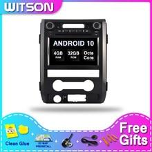 Leitor dos multimédios da navegação de witson android 10.0 dvd gps para o rádio do carro da rom de 4g ram 32gb de ford f150 2009-2014