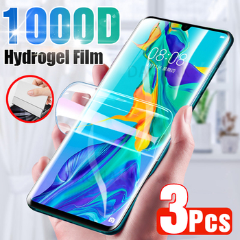 3Pcs+Screen+Protector+F%C3%BCr+Huawei+P30+Pro+P20+Lite+P40+P10+Volle+Abdeckung+Hydrogel+Film+F%C3%BCr+Huawei+Mate+10+20+30+Pro+Ehre+9+20+lite