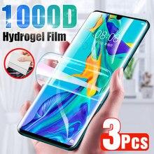 3 adet ekran koruyucu için Huawei P30 Pro P20 Lite P40 P10 tam kapak hidrojel filmi için Mate 10 20 30 40 Pro Lite P akıllı 2019 Z