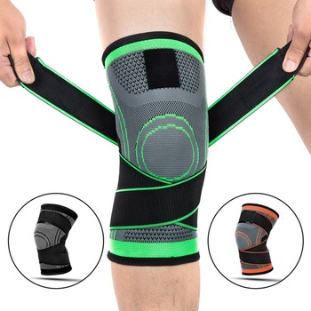 1pcs Knee Support Brace Pads Breathable Bandage Professional Protective Sports Knee Pad Strap Basketball Tennis Cycling Fitness 1pcs knee pads kids sports knee pads anti collision basketball honeycomb knee pad brace children skating running elbow pad