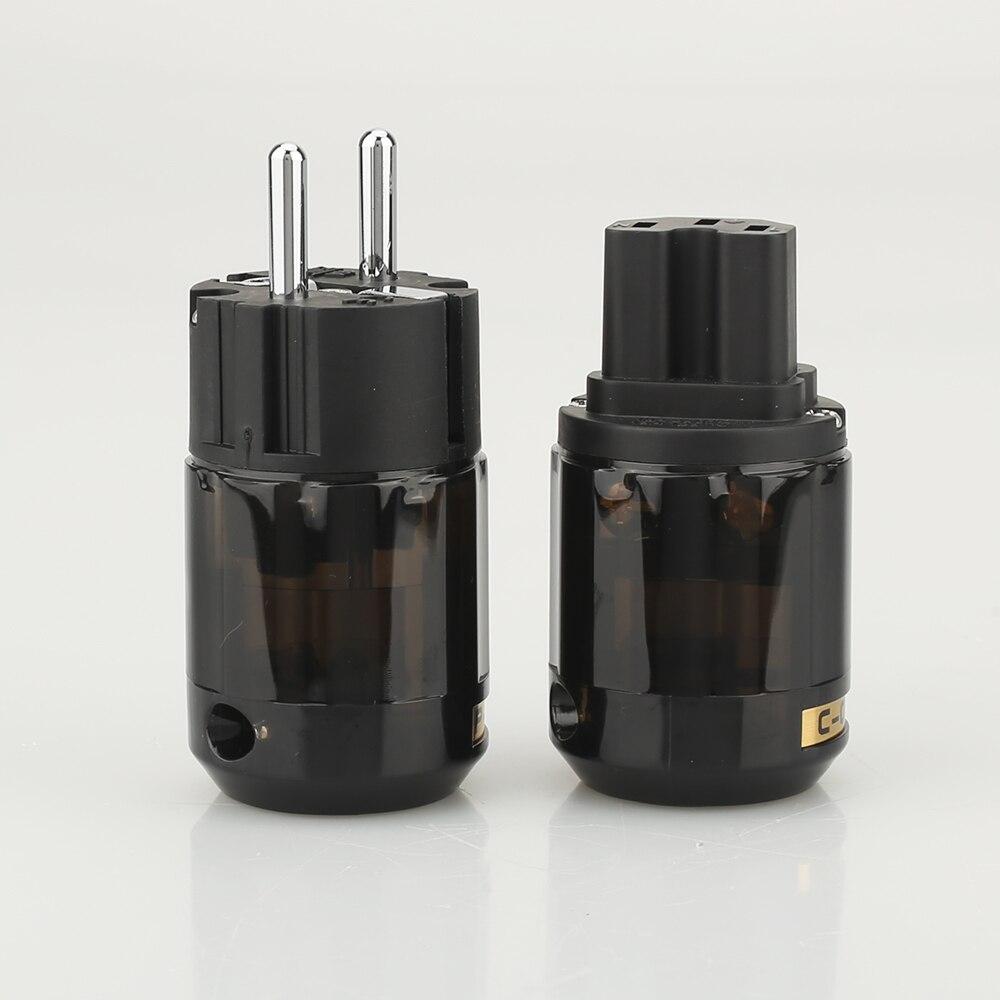 Штепсельная Вилка Schuko, пара, евро, переменный ток, разъем питания, IEC, Hi-Fi, для подключения к сети