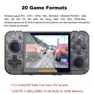 """Image 3 - HEYNOW RG350 Retro spielkonsole HDMI Ausgang 3.5 """"IPS Bildschirm 10000 + Spiele 18 Emulator Linux System Handheld Spiel player Beste Geschenk"""