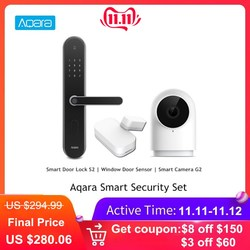 Aqara Smart Security Set S2 Vingerafdruk Intelligente Deurslot + Aqara G2 1080P Smart IP Camera + Aqara Smart raam Deur Sensor