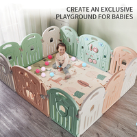 Baby Playpens Toddler Protective Bar Child Safety Fence Indoor Toys Baby Playpen Crib Baby Fence Play Yard Baby Crawling Mat T