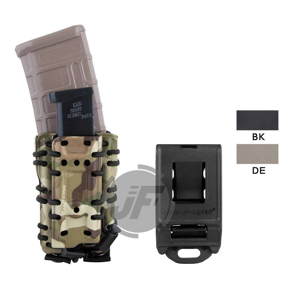 "Emerson Tactical 556 5.56 .223 & 9mm Mag Pouch G Code Style MOLLE / Belt Scorpion Magazine Carrier Holster Fits Up To 2"" Belt