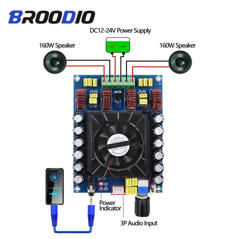 TDA7498E Super High Power Digital Amplifier Stereo Dual-Channel 2*160W Digital Audio Amplifiers Board For Home Speaker DIY Amp