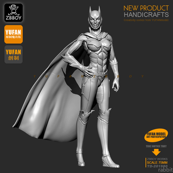 1 / 24S resin figures Kits Batman women, resin Soldier  self-assembled 75MM TD-201980 jet city 24s