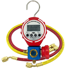 Pressure Gauge Refrigeration Digital Manifold Tester Vacuum Pressure Meter HVAC Temperature Tester Freon Pressure with Hose