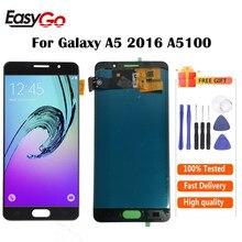 ЖК-дисплей 5,2 дюйма для Samsung Galaxy A5 2016, A5100, A510, A510F, A510M, цифровой преобразователь сенсорного экрана в сборе, бесплатная доставка