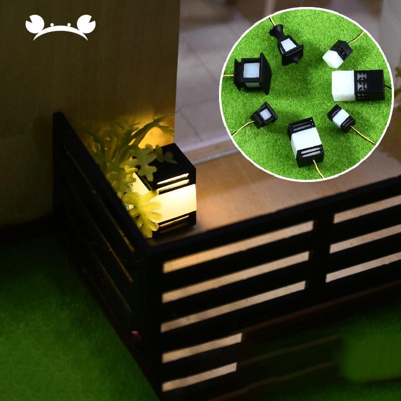 3Pcs Model Light Dollhouse Garden LED Warm White Lawn Lamp Lighting Miniature Dollhouse Mini Grass Light