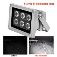 Lámpara iluminador infrarrojos IR CCTV, Led IR para exteriores, impermeable, visión nocturna, CCTV, cámara IP, 6 uds.