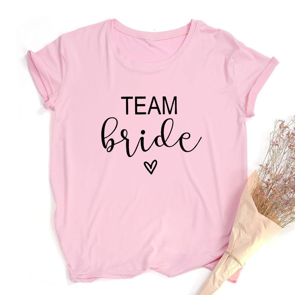 Team Bride Print Women Short Sleeve T Shirts Bachelorette Wedding Party Graphic T-shirt Harajuku Tshirt Female Tees Tops Hipster 4