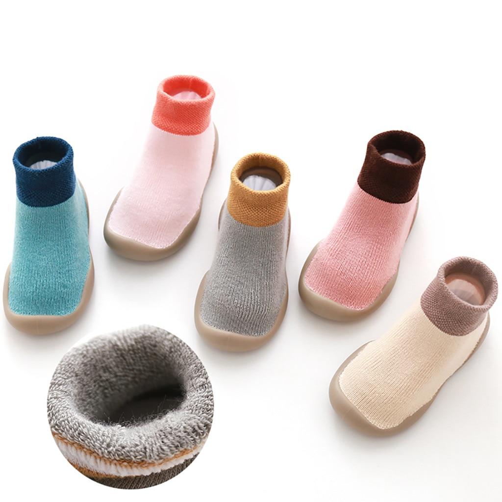 Baby Boy Girl Socks Warm Cotton Children Floor Socks Anti-Slip Baby Step Socks