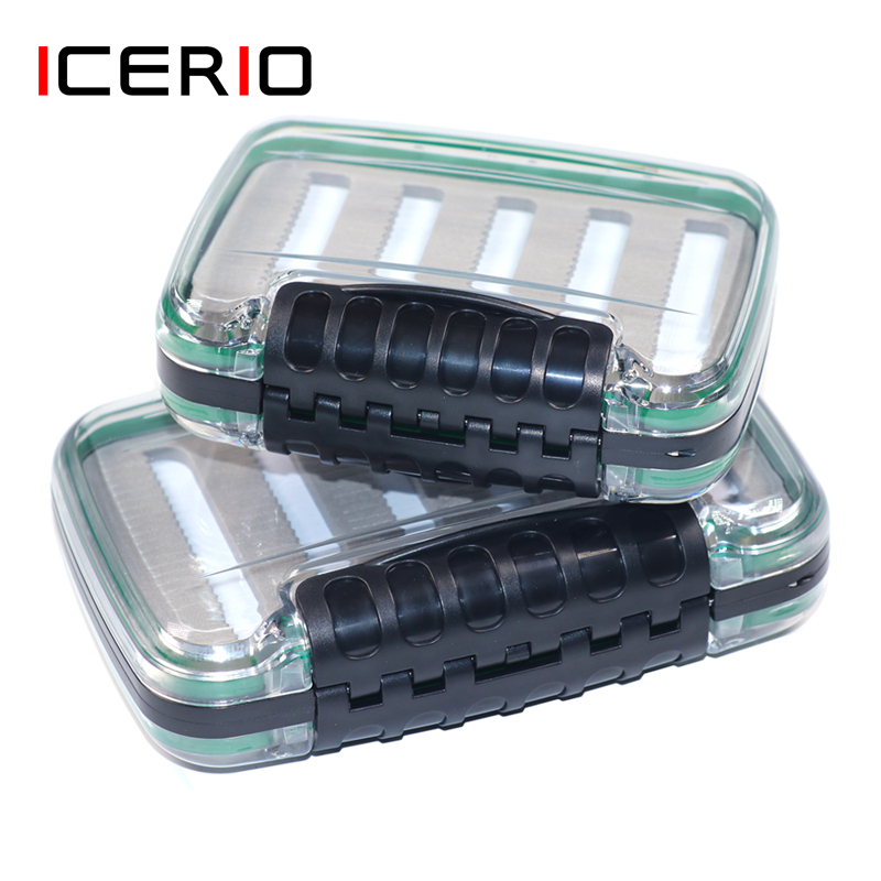 ICERIO Fishing Box for Baits Double Side Waterproof Plastic Lure Boxes Foam Fly Fishing Tackle Storage Box Supplies Accessories|Fishing Tackle Boxes| |  - title=