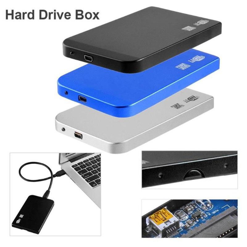 "2.5"" Aluminum Alloy HDD Case SATA to USB 3.0 Mobile Hard Disk Box SSD Enclosure"