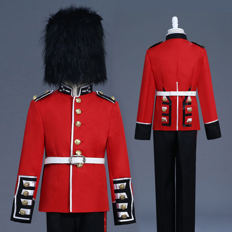 Europe British Royal Guard Costume Adult Child Queen's Guard Costume Dress Up Prince William Soldiers Halloween Cosplay Costume