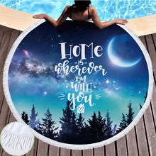 Landscape Printing Microfiber Large Beach Towel Mat Sand Proof Blanket Outdoor Picnic Mat Quick Drying Heat Resistant Yoga Mat(China)