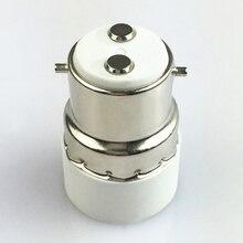 10pcs B22 to E14 Extender Adapter Converter Lamp Bulb Socket Holder White