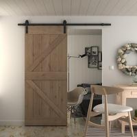 36x84 inches DIY Natural Sturdy Knotty Alder Wood Shiny Primer Sliding Barn Door Slab,Arrow