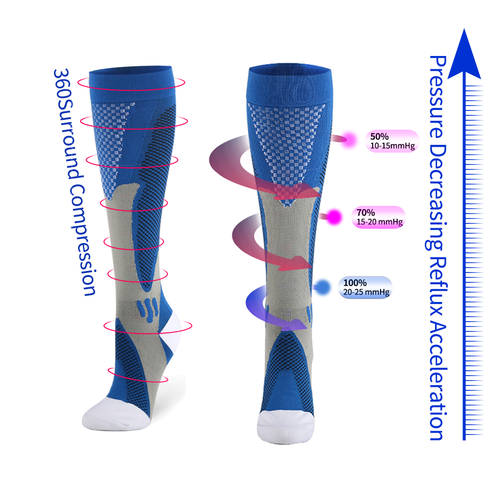 Socks Men Compression Socks High Stockings Anti Fatigue Pain Women Compression Socks Fit For Sports Relief Knee High Stockings