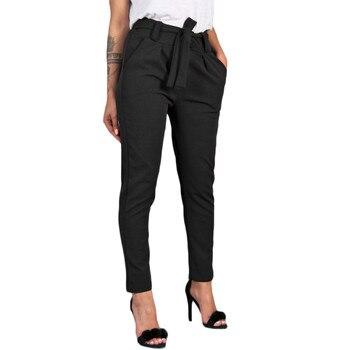 Spodnie dla kobiet 2019 spodnie z wysokim stanem dla kobiet panie w pasie spodnie dorywczo kobiece letnie spodnie damskie spodnie w rozmiarze plus #606
