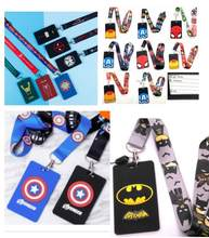 New cartoon 30 PCS cat superheros Neck Strap Lanyards Badge Holder Rope DIY Key Chain Accessories(China)