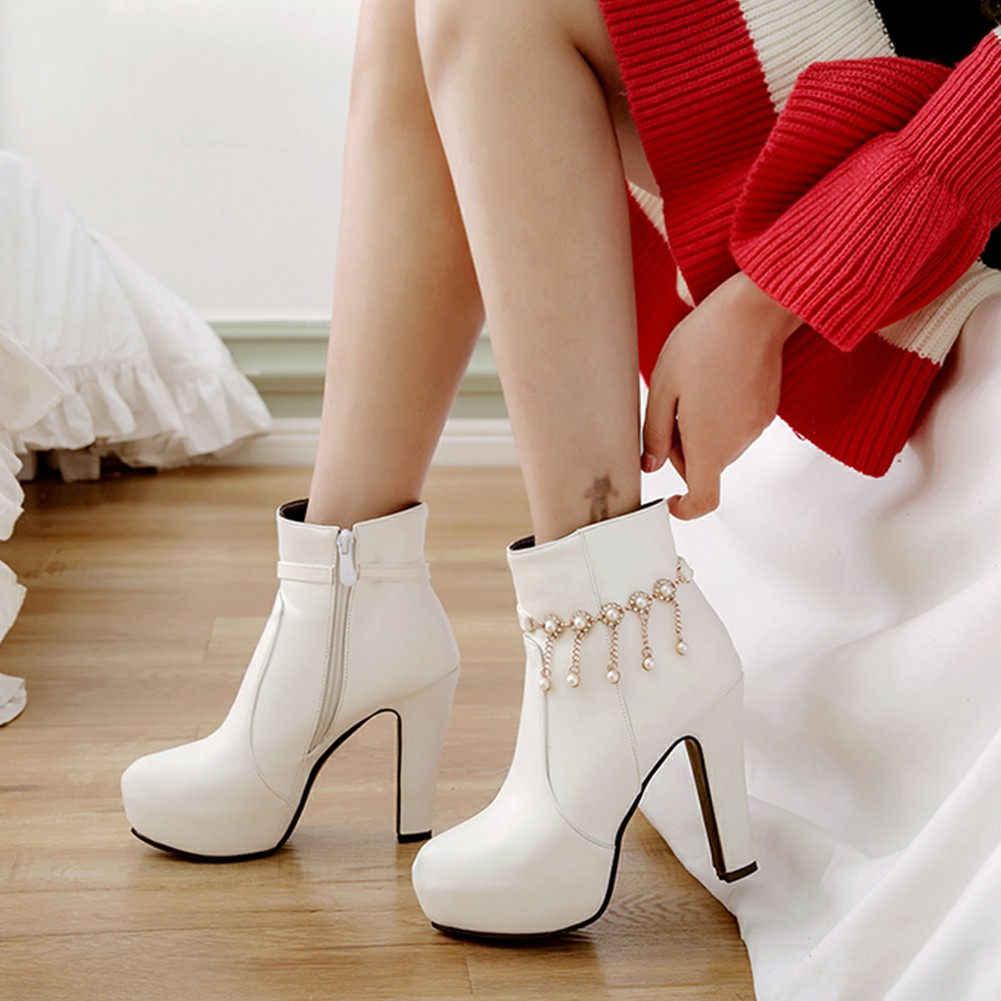 Karinluna 2019 ขนาดใหญ่ 43 elegant โซ่รองเท้าส้นสูงรองเท้าผู้หญิงรองเท้าข้อเท้ารองเท้าผู้หญิงหญิงรองเท้า
