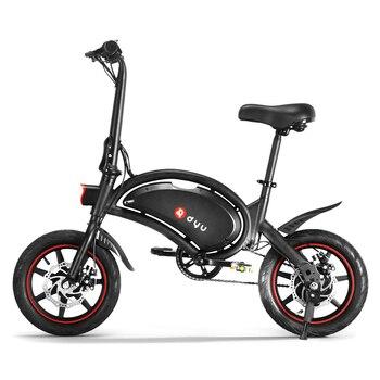 DYU 14 pulgadas plegable Power Assist Bicicleta eléctrica, ciclomotor e-bike 65-70km Max Range E bike motocicleta Bicicleta eléctrica
